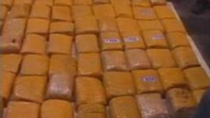 Moscow police seize big stash of heroin and hash