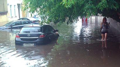 Submarine summer: More Russian regions drenched in tropical downpours (VIDEO, PHOTOS)