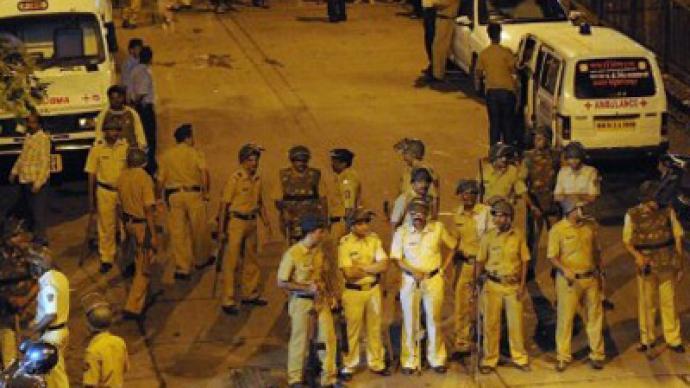Triple blast hits India's financial center