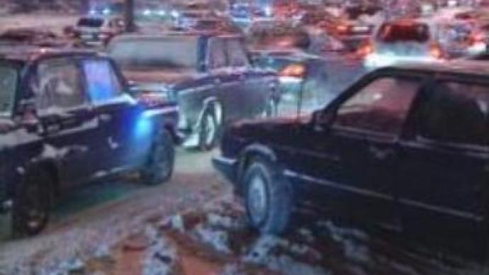 Muscovites complain about traffic jams