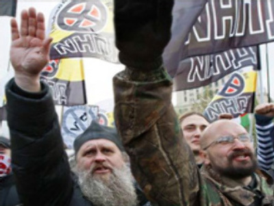 Russian nationalists protest against illegal immigration in Irkutsk