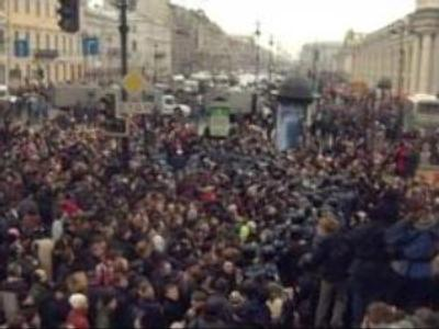 Nationalists' rally over in St Petersburg