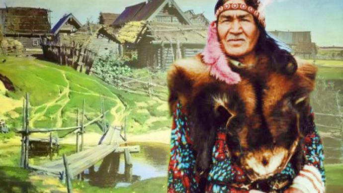 Native American man finds love and tranquility in small Russian village