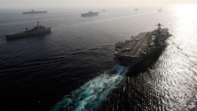 US to flex naval might in Persian Gulf war games