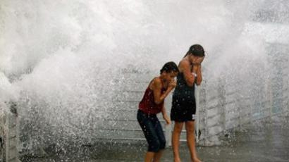 New Yorkers brace themselves as Irene hits town