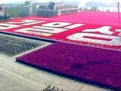 North Korea stages military parade