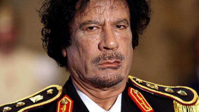 """Gaddafi, get lost either way"""