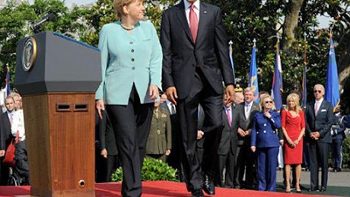 Obama and Merkel talk policy and war in Washington