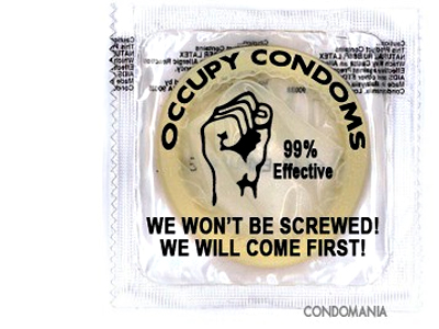 Here comes the crowdstopper: Occupy Wall Street Condoms