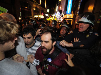 OWS angry with heavy-handed cops