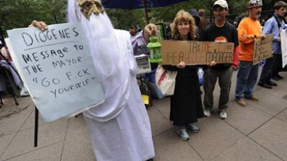 OWS freeze frame: 'The US could end up like Egypt or Libya'