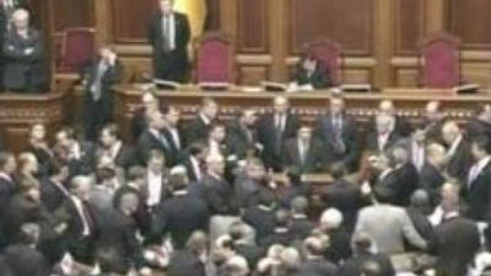 Opposition turns off electricity in Ukrainian Parliament