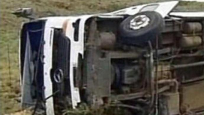 Orphanage bus overturns in accident