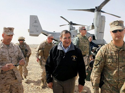 Panetta a target? Car explodes on Afghan runway as Defense Sec. lands