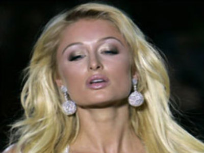 Paris Hilton struts her stuff in Moscow