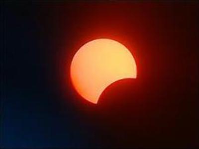 Partial solar eclipse seen in Siberia