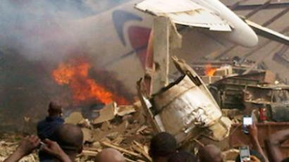 Cargo plane crashes into Congo residential area killing at least 30