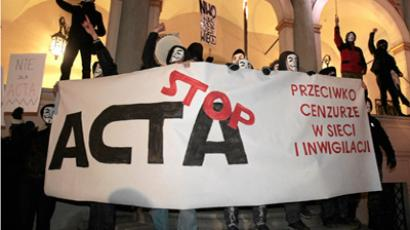 Anonymous calls for anti-ACTA rallies, Poland suspends bill