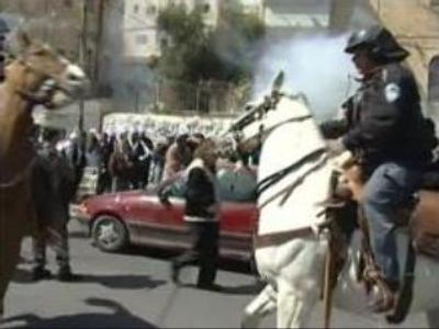 Police and protesters clash at Al Aqsa Mosque in Jerusalem