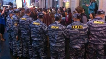 Moscow police detain about 30 activists at new camp (PHOTOS)
