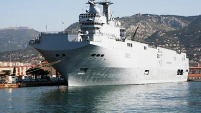 France refuses to block Mistral warship deal with Russia