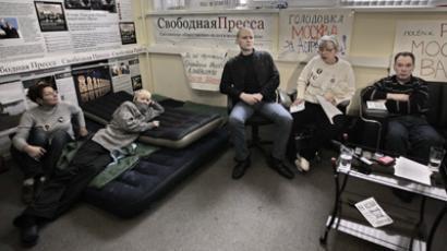 Astrakhan hunger strike resumed after arrests