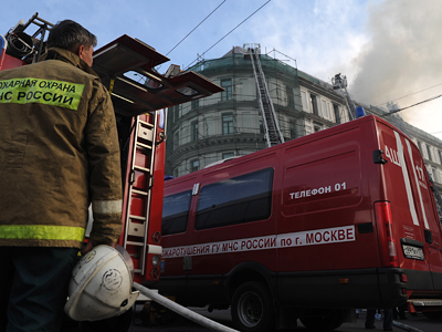 150m skyscraper ablaze as fire tears through Polat Tower in Istanbul (VIDEO, PHOTOS)