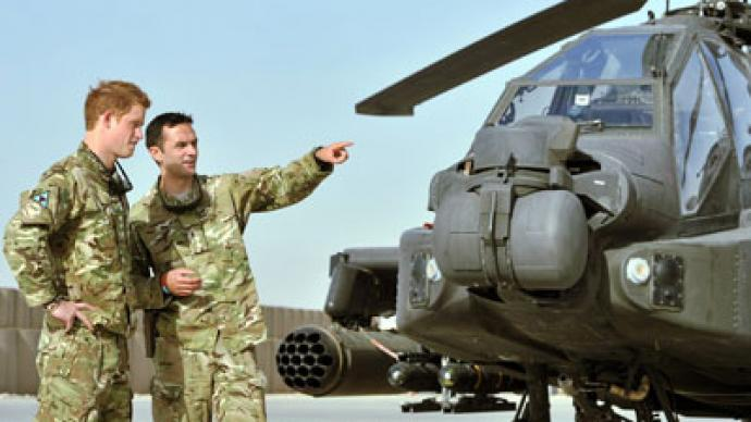 In shining armor: Apache-piloting Prince Harry to 'help oust Assad'