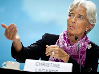 IMF head seeks helping hand in Russia