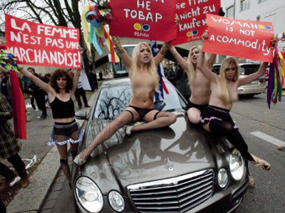 Broken and Bruised:  FEMEN marks Women's day (VIDEO, PHOTOS)