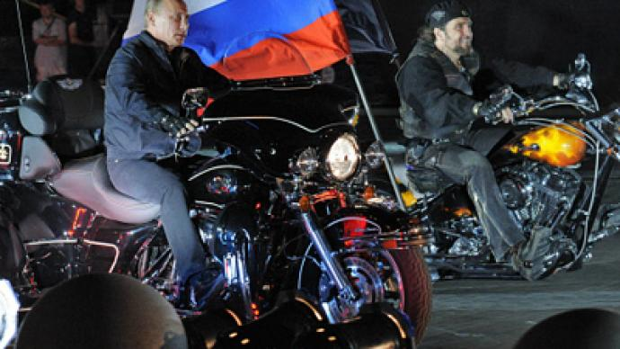 Putin Rides Into Bike Show On Harley Rt World News