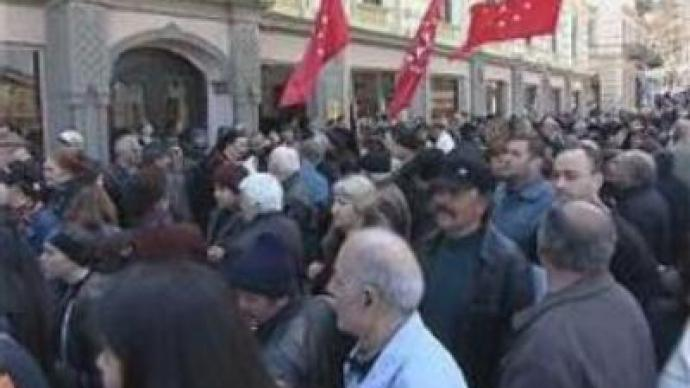 Rally hits Georgia's capital after tax rise announced