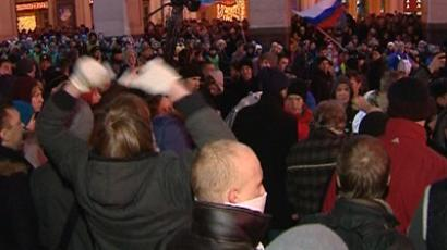 Youth gives vocal support to Russia's ruling party