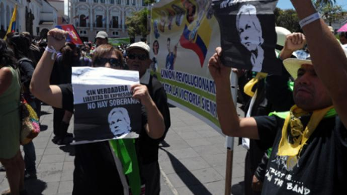 Hundreds in Ecuador rally in support of Assange (PHOTOS)