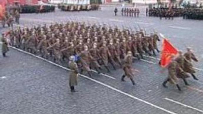 Red Square march retraces war parade
