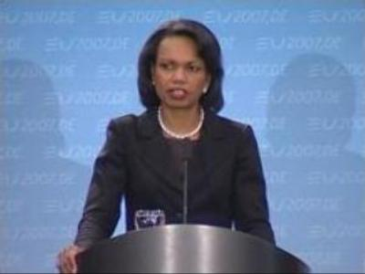 Rice criticises Russia's warning against U.S. missile shield