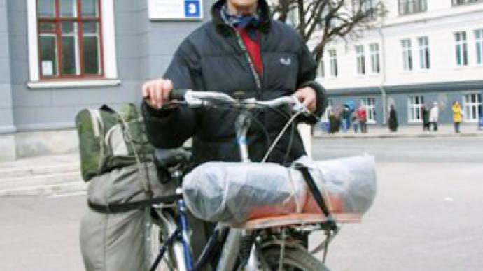 Across Russia on a bicycle...at 70