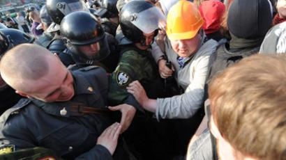 Moscow police disperse opposition's peaceful promenade, over 200 arrests (PHOTOS, VIDEO)
