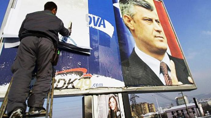 Russia rejects Kosovo election