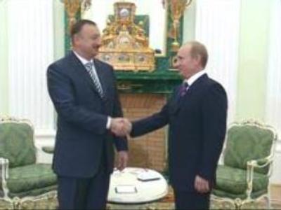 Russian and Azerbaijan Presidents meet