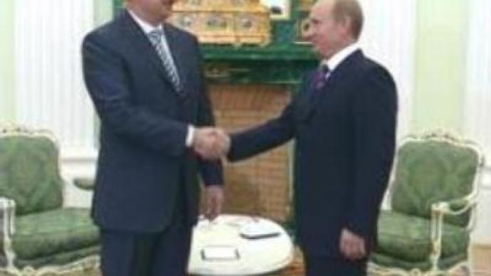 Russian and Azerbaijan Presidents meet