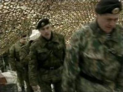 Russian marine officers wait for sentence
