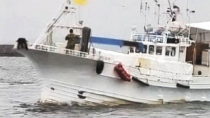 Russian sailors missing off Japan