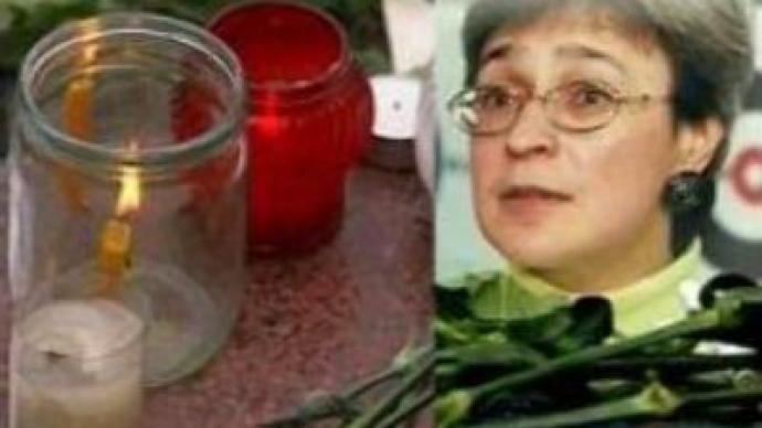 Russians commemorate murdered journalist