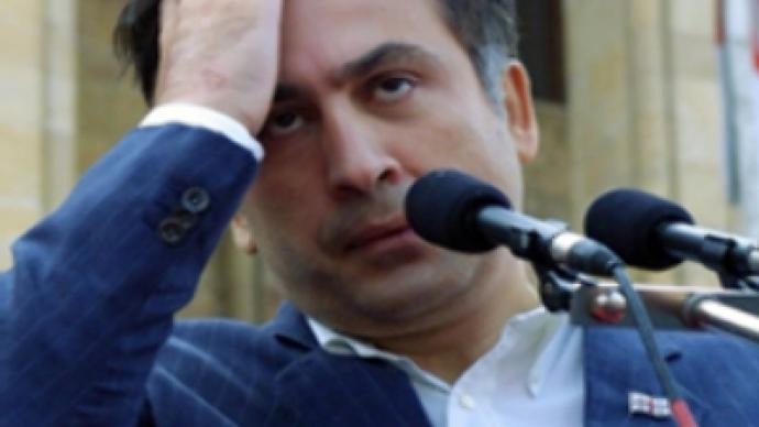 Saakashvili: Get out! Get out! Oh…they've gone