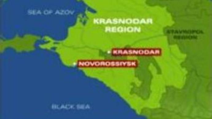 Ship runs aground in Novorossiysk