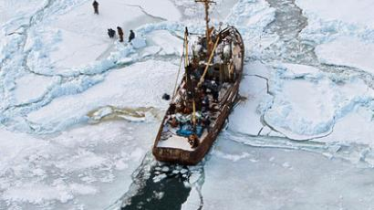 Vessel rescued from month-long ice trap