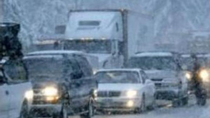 Snow storm hits Russian Far Eastern city of Vladivostok