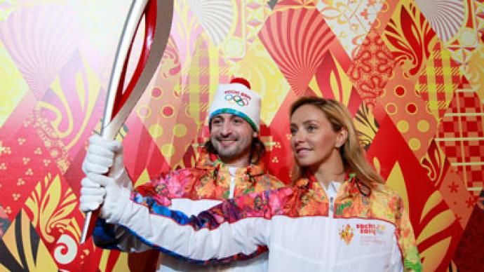 Firebird flame: Sochi Winter Olympic torch unveiled