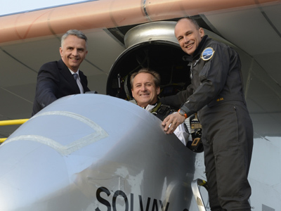 Solar Impulse charges into first intercontinental flight
